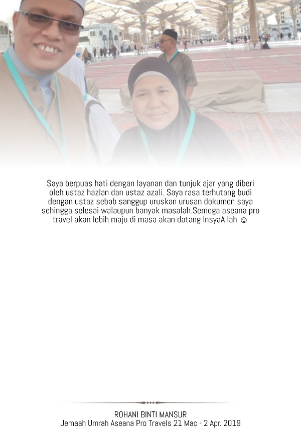 ROHANI BINTI MANSUR - Made with PosterMyWall