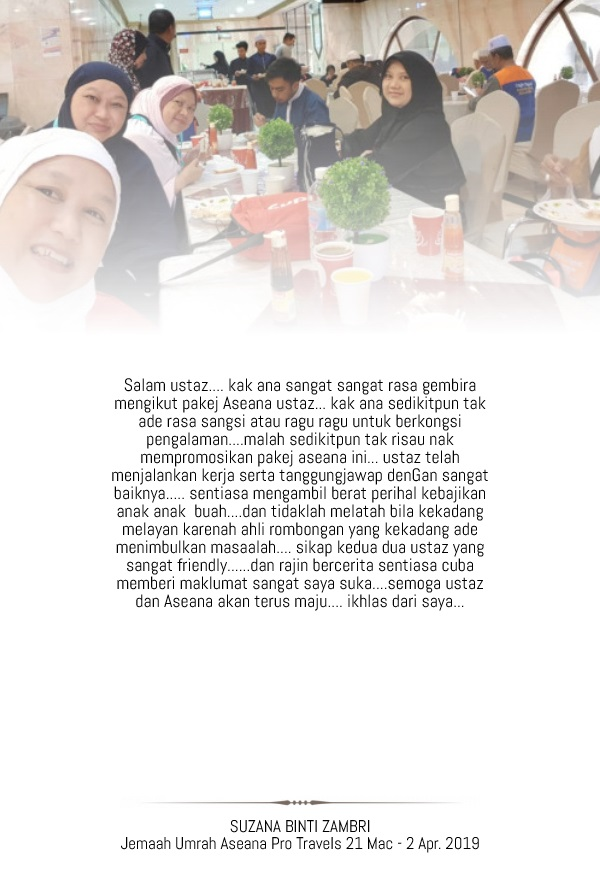 SUZANA BINTI ZAMBRI - Made with PosterMyWall